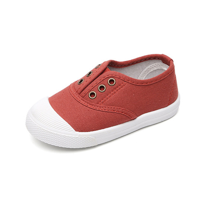 COZULMA Crianças Clássico Slip-on Sapatilhas Da Forma Sapatas de Lona Meninos Meninas Primavera Verão Crianças Não-deslizamento Sapatos Casuais tamanho 21-30