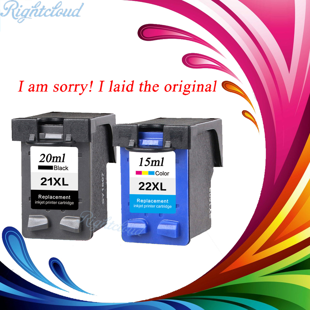 2 Pcs Ink Cartridge for HP 21 22 XL For HP cartridges 21 and 22 for HP Deskjet 3915 D1530 D1320 F2100 F2280 F4100 F4180 printer applicable for hp ink cartridge for hp 21 22 cartridges deskjet f300 f310 for hp 21xl 22xl factory direct