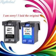 2 Pcs Cartucho de Tinta para HP 21 22 XL Para HP cartuchos 21 e 22 para 3915 HP Deskjet D1530 D1320 F2100 F2280 F4100 impressora F4180