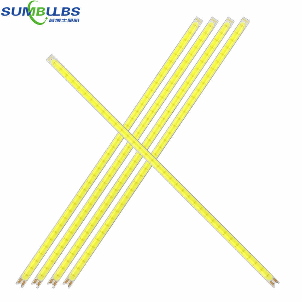 5pcs New Arrival Super Thin 4mm COB Strip LED Lamp 12V 2W 3W 5W Cool Pure White LED Bar Lights for DIY Car Lighting Work Lamp