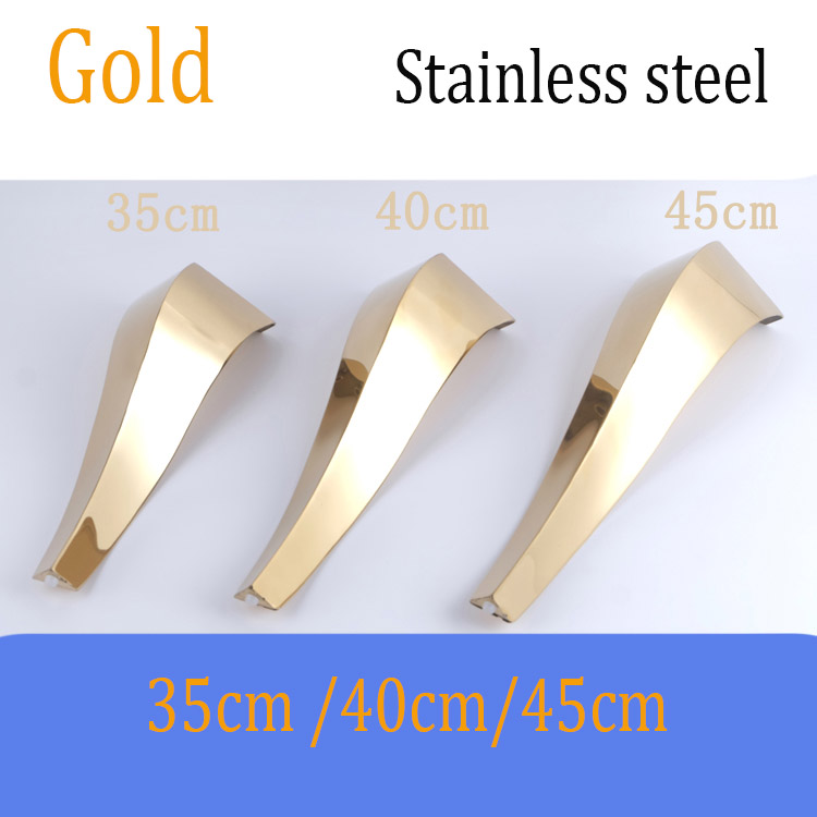 2Pcs Stainless Steel Shiny Gold Furniture Bath Tea Coffee Stool Bar Sofa Chair Leg 35CM 40CM 45CM Legs Feet European Furniture