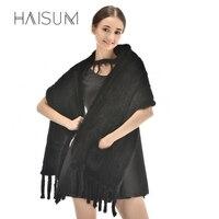 New fashion woven mink scarf warm fashion mink fur lady shawl QF32