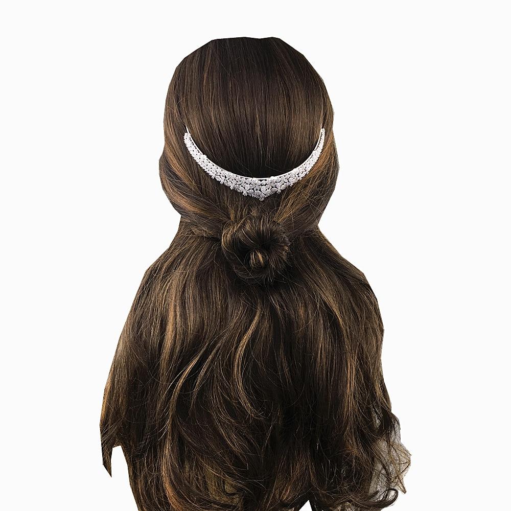 Micro Paved Cubic Zircon Tiara Clover Full Zirconia Crown Wedding Hair Accessories Bridal Jewelry CZ Coroa Novia WIGO1253
