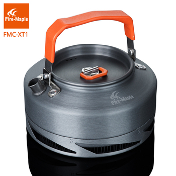 цена на Fire Maple Outdoor Camping Pinic Heat Exchange Kettle Coffee Tea Pot 0.8L with Heat Proof Handle Tea Filter FMC-XT1