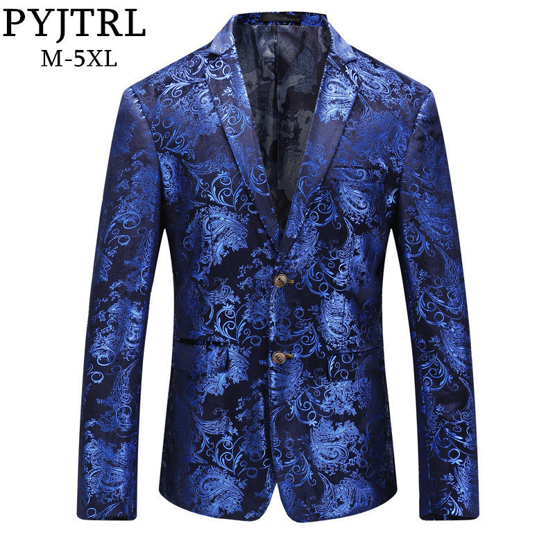 Luxury Party Prom Blazer Shinny Yarn Wine Red Blue Black Contrast Collar Dress Dinner Blazer Homme