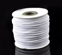 Retail 1 Roll About 40M White Elastic Cotton Covered Latex Thread Cord 2mm