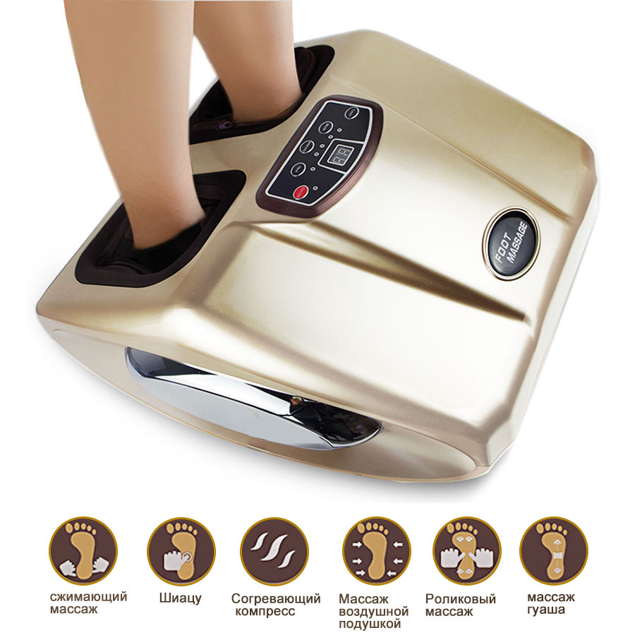 Electric Foot Massager Machine Intelligent foot therapy Shiatsu heating Airbag scraping kneading Foot SPA Massage Health Care electric foot massager massage machine constant heating thermal roller kneading timing foot care device wireless control