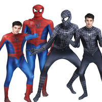 High Quality New Captain America Black Spiderman Cosplay Costume Civil War Red Spider Man Suit Tom Holland Spiderman Costume