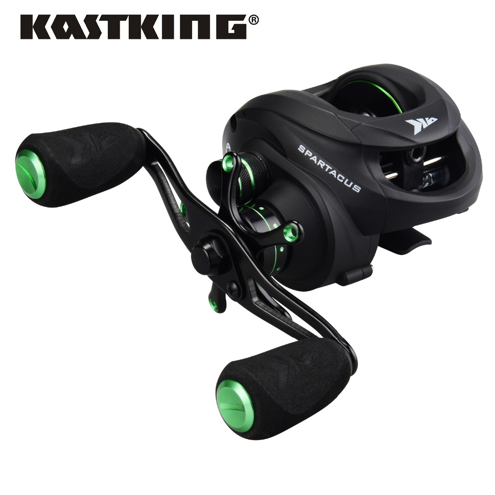 KastKing Spartacus 4 Different Colors 8KG Max Drag Power Baitcasting Reel Dual Brake System Freshwater Fishing