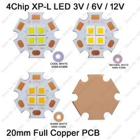3V 6V 12V 36W Cree XPL XP L 4Chips LED Emitter Instead Of XHP70 SST 90