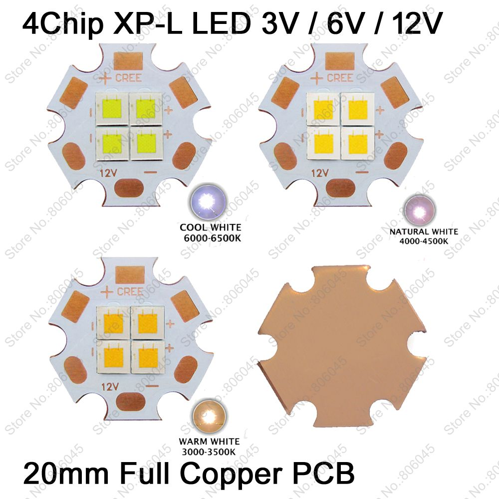 3V / 6V / 12V 36W Cree XPL XP-L 4Chips LED Emitter instead of XHP70 SST-90 Cool White 6500K Neutral White 4500K Warm White 3000K cree xhp70 cool white neutral white warm white high power led emitter 30w 6v or 12v for led scuba flashlight diver torch light