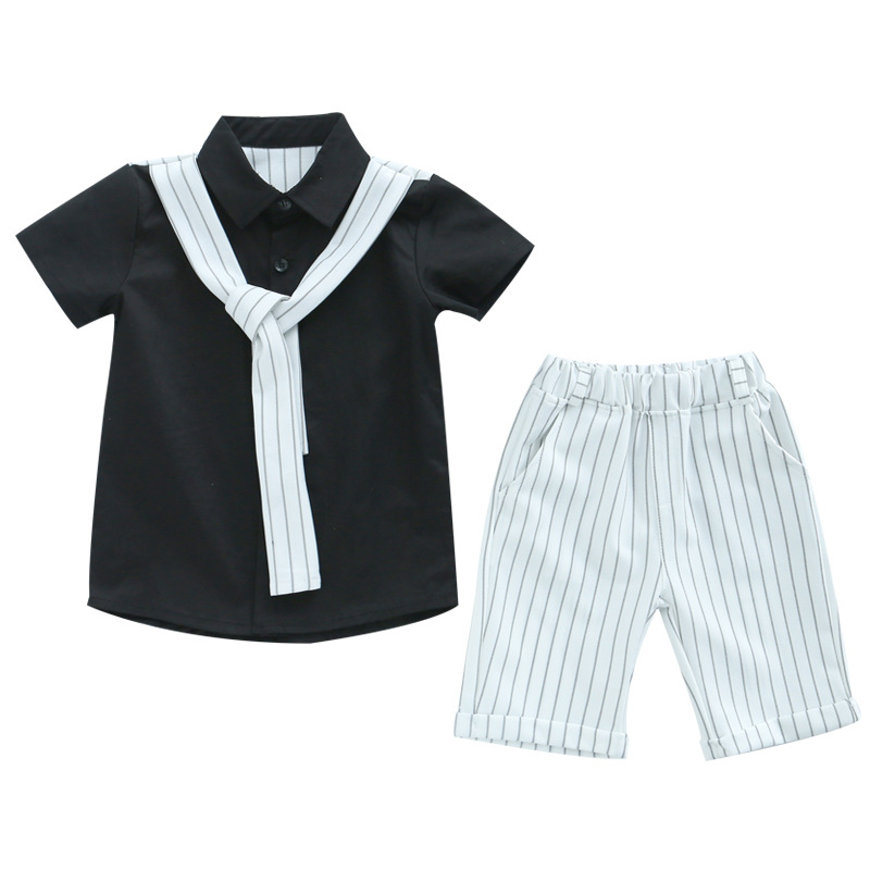 Baby Boys Sets Summer Boys Sets Kids Clothes Short Sleeve T Shirt+short Pants 2018 Cotton Tops Tees Sports Set Children Suit