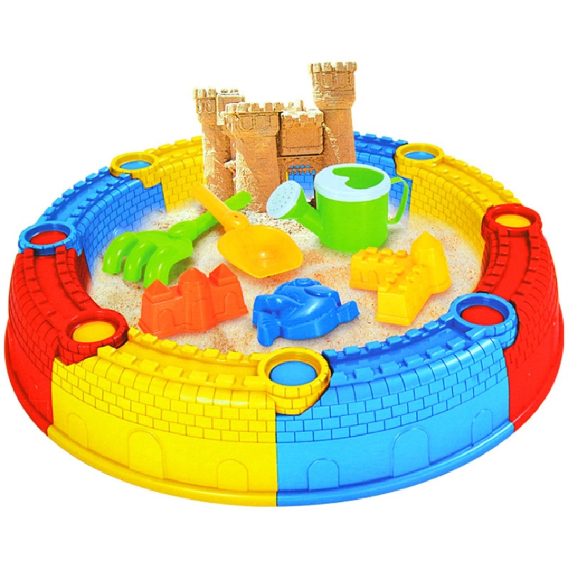 Children Beach Castle Toy Play Sand Drainage Large Shovel Beach Toy For Children Learning Study Toys 14pcs lot tangle free debris extractor replacement kit for irobot roomba 800 900 series 870 880 980 vacuum robots accessory pa