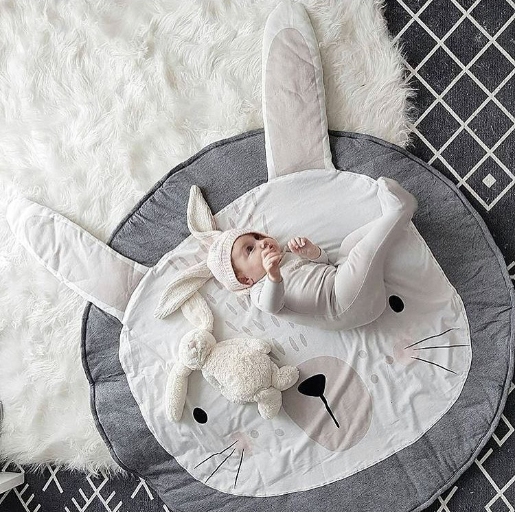 Quilted Cotton Play Mats Baby - Bunny Rabbit