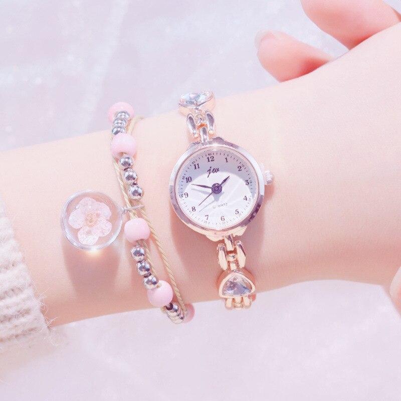 Exquis de luxe cristal femmes Quartz montres de mode en acier complet dames montre bracelet décontracté élégant Simple femmes montres
