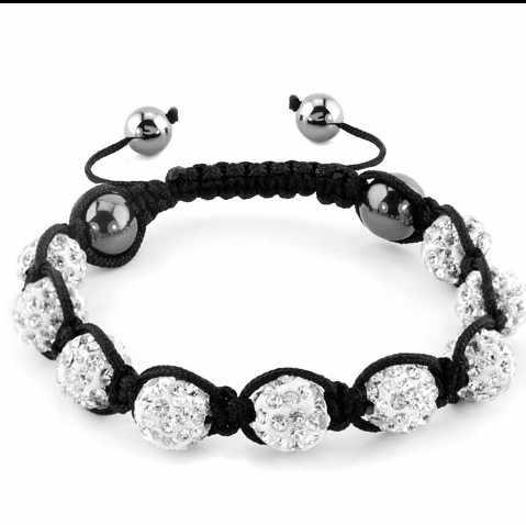 Misturado multi color mix Strass branco contas micro pave Pulseiras preço de fábrica de jóias Por Atacado bracelete de cristal do Shamballa