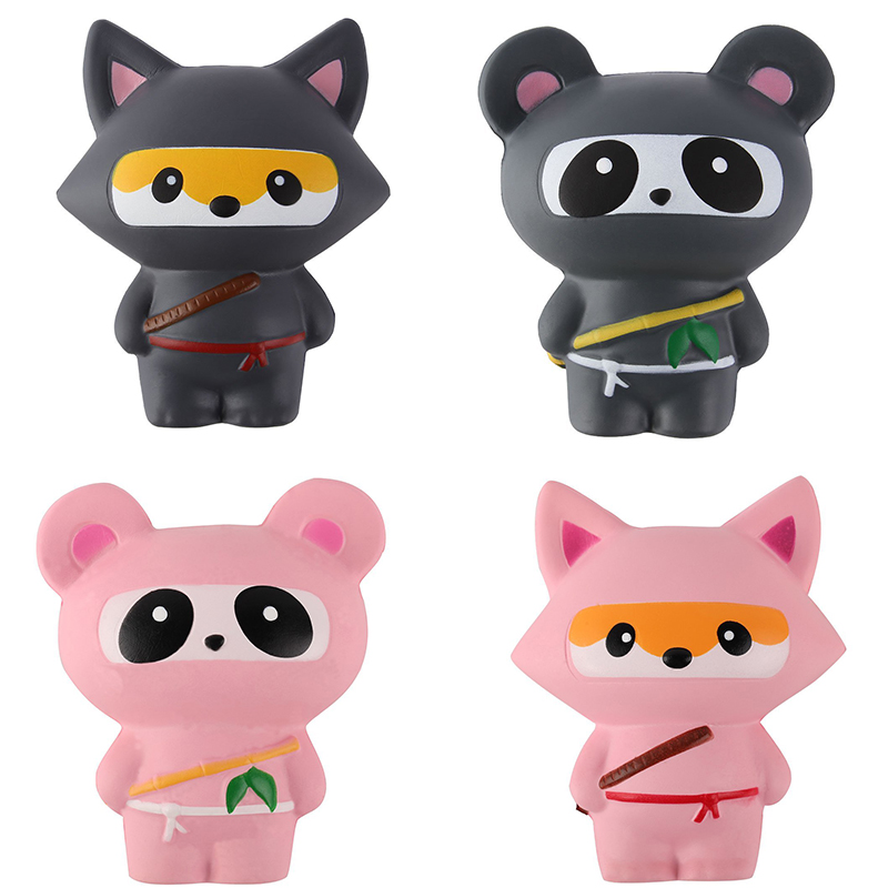 New Animal Jumbo 14CM Kawaii Ninja Squishy Panda/Bear/Fox Bread Soft Slow Rising Fun Kid Toys Sweet Charm Cartoon Cake Wholesale ...