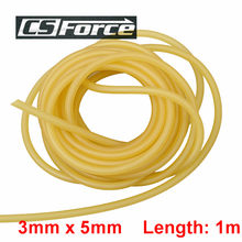 1 Piece 3x5mm Natural Latex Slingshots Rubber Tube 1m Tubing Band For Slingshot Hunting Catapult Elastic Part Fitness Bungee(China)