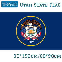 9abd04c8127 State Utah Banner 3x5ft American Polyester Size Flag. US ...