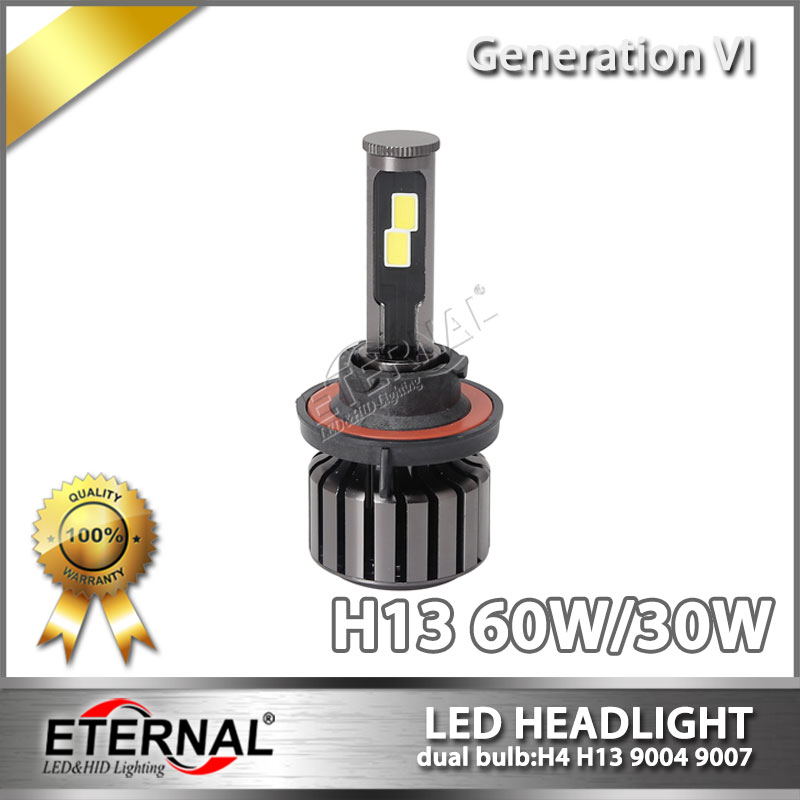 60W LED headlight kit bulb 12000lm H4 H13 9004 9007 H1 H3 H7 H11 9005 9006 9012 D2S for car offroad 4x4 motorcycle truck trailer 2017 newest 9012 fanless led headlight conversion kit 6500k 6600lm c ree xhp 70 50w bulb h4 h7 h11 9005 9006 h13 9007 9004