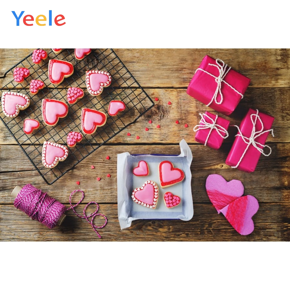 Yeele Line Love heart Gift Wooden Board Texture Plank Goods Show Photography Backgrounds Photographic Backdrops For Photo Studio in Background from Consumer Electronics