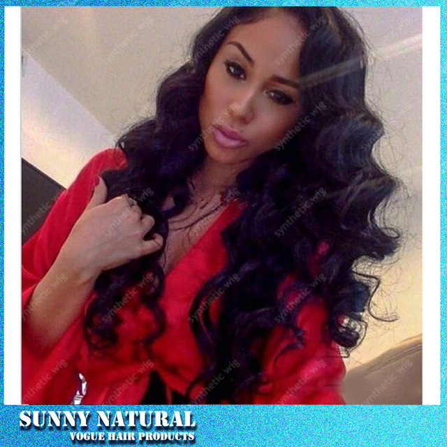 Free Shipping Loose Curly Glueless Synthetic Lace Front Wigs Kinky Curly Wigs Black Synthetic Lace Front Wigs With Baby Hair