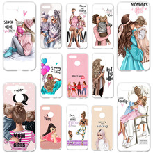 Soft Silicone Case For Lenovo K5 play Cover L38011 5.7 Baby Black Brown Hair Mom Girl Queen Bumper