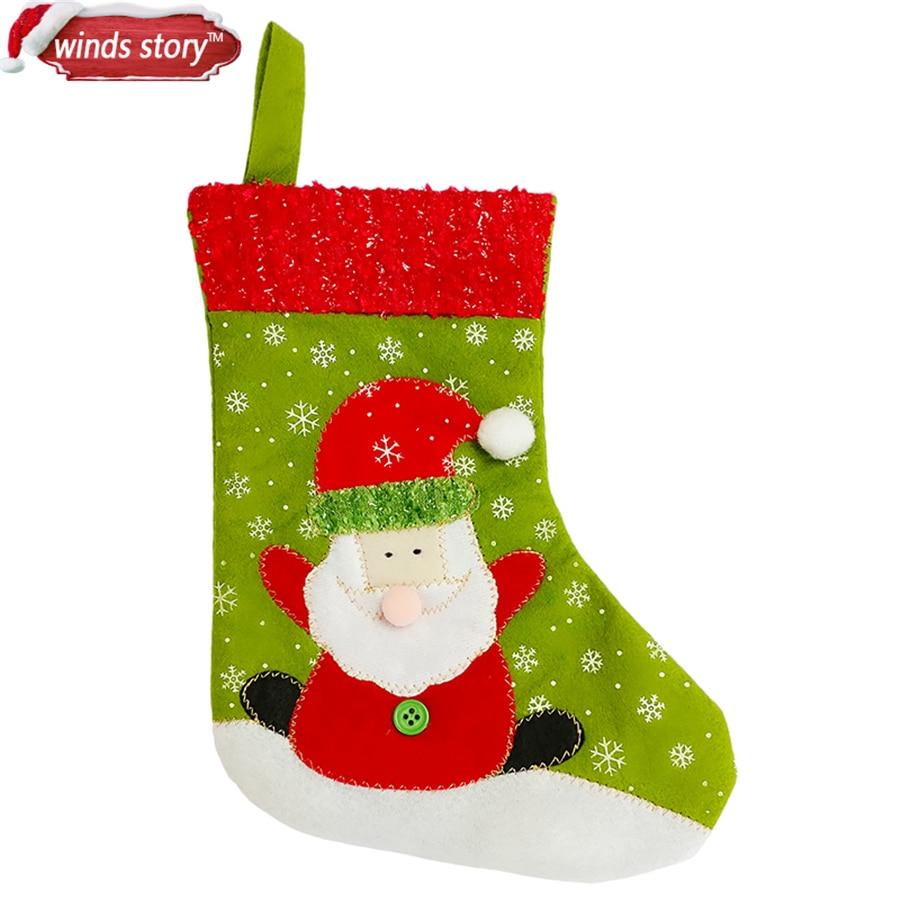 2Pcs Santa/Snowman pattern Decoration Sock Xmas Tree Decorations ...
