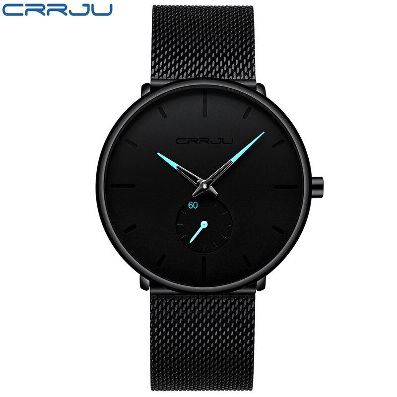 Image 3 - Men Watches Top Luxury Brand CRRJU Fashion Casual Quartz Analog Watch Men's Waterproof Sports Business Wrist Watch Male Clock-in Quartz Watches from Watches
