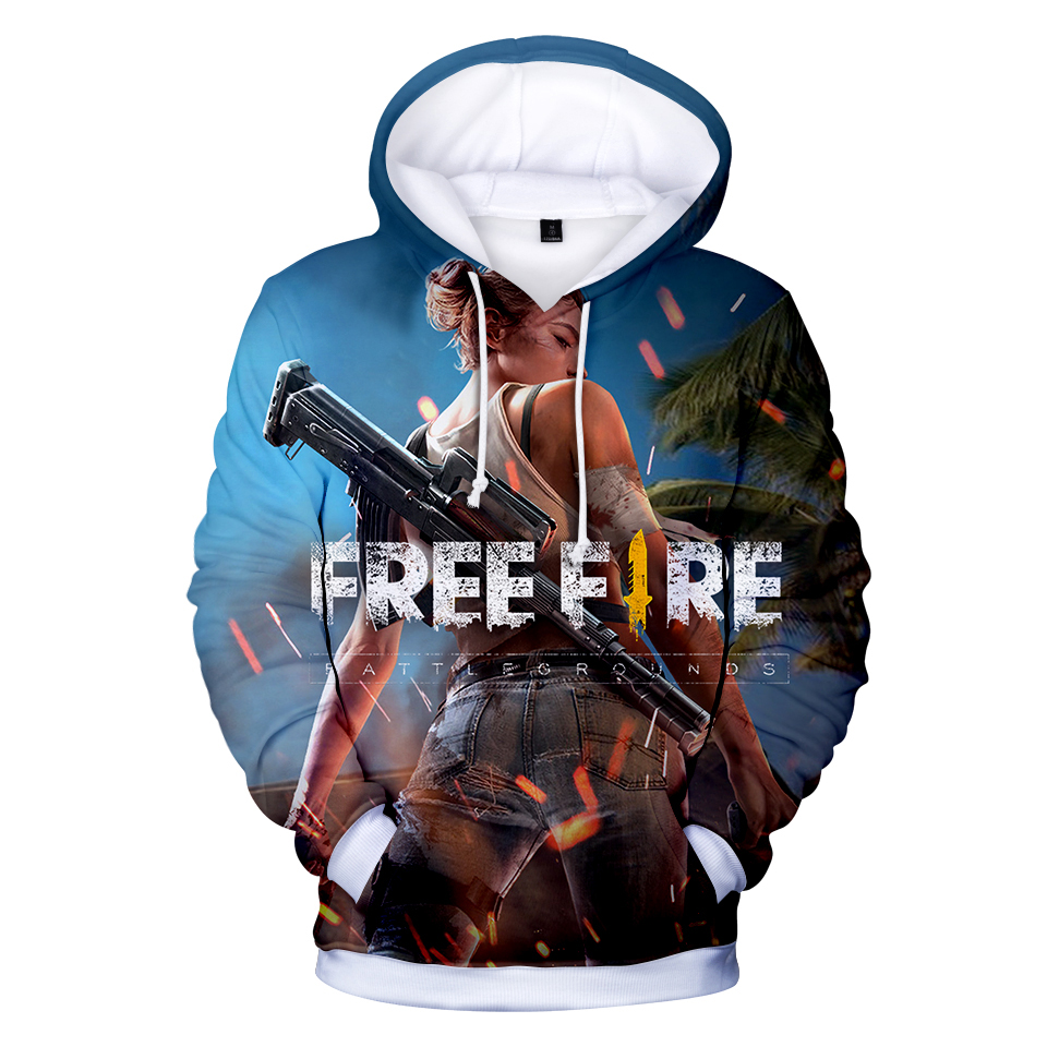 2018 Free Fire Shooting Game 3D Hoodies Fashion Autumn Hoodies Shooting Game Warm Long Sleeve Popular Sweatshirts Hooded Clothes