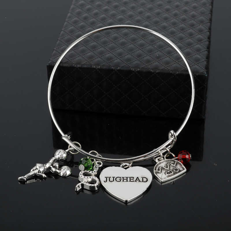 dongsheng Riverdale Bracelet Bangle Letter Jughead Pendant Betty Jughead Jones Wish Bracelet Southside Serpents Geekey for Women