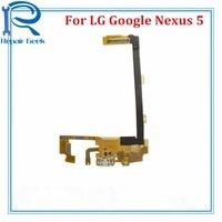 New For LG Google Nexus 5 D820 D821 Mic Dock Connector Flex Cable Repair Parts For