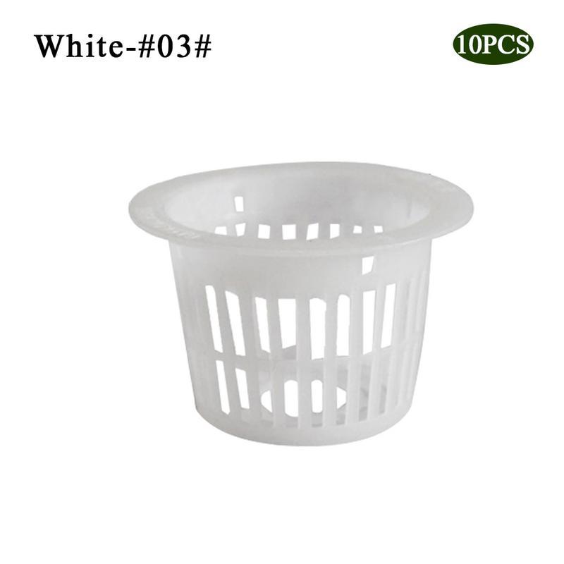 10 шт. сверхмощный гидропонный сетчатый горшок чистая чашка корзина гидропоники аэропоники растение сад клон - Цвет: 8