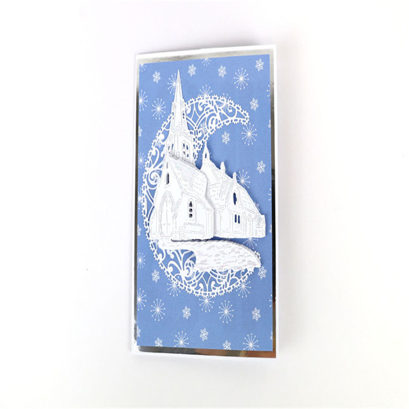 Winter Church Dies Scrapbooking Metal Cutting New 2019 Church Dies Cuts Card Making House Craft Dies Album Embossing in Cutting Dies from Home Garden