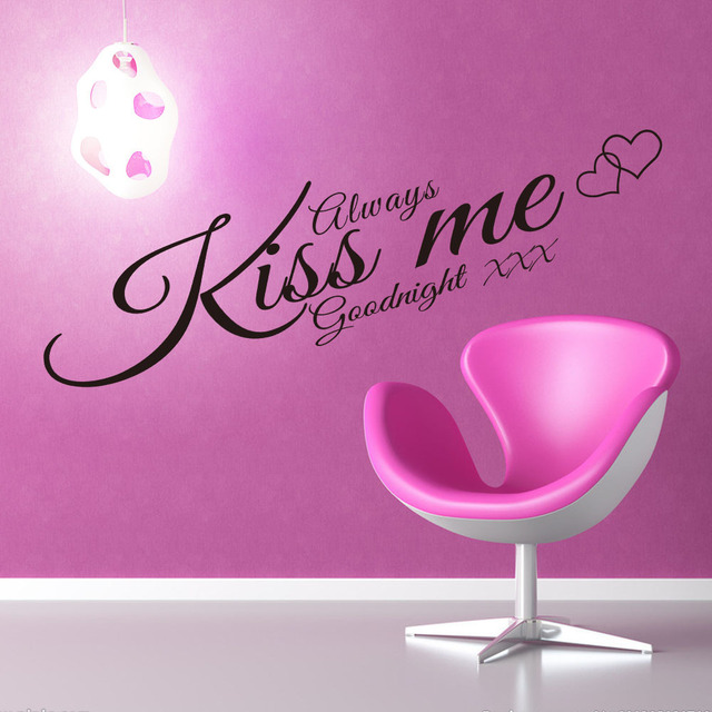 8188 king bedroom background always kiss me custom wall stickers wholesale trade english zooyoo