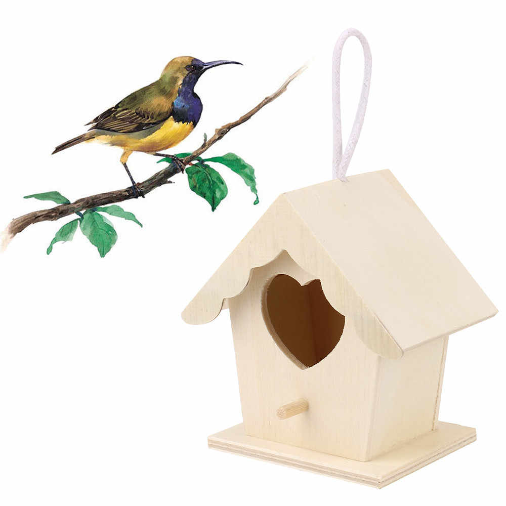 wooden bird house Creative wall-mounted wooden outdoor bird nest birdhouse Factory direct sales Decoration**10