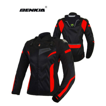 BENKIA Women Motorcycle Jacket Breathable Motorcycle Racing Mesh Jackets Motocross Protective Jersey Moto Femmel