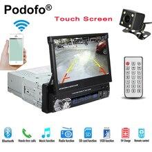 Podofo Car Radio Autoradio GPS Bluetooth Car Stereo 1 din 7 HD Touch Screen Handsfree DVD
