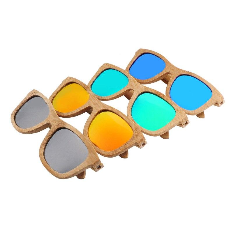 XIWANG haute qualité nouveau Style multicolore bambou bois lunettes polarisant lumière bambou lunettes de soleil pour hommes et femmes au volant 5623