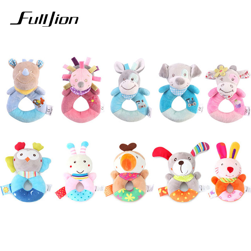 Lovely Baby Hand Rattle Soft Plush Mobile Toddler Cartoon ...