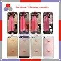 10 Шт./лот высокое качество Для IPhone 5S Полный Жилищно Ассамблея Задняя Крышка Батареи с Sim-карты Лоток + Кнопки + Flex кабели