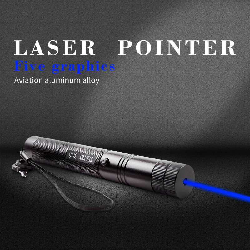Jshfei Hot Sales Blue Laser Pointer Powerful Star Astronomy Laser Pointer Visible Solid Beam Wholesale Lazer Pen Burn Match Promote The Production Of Body Fluid And Saliva Home