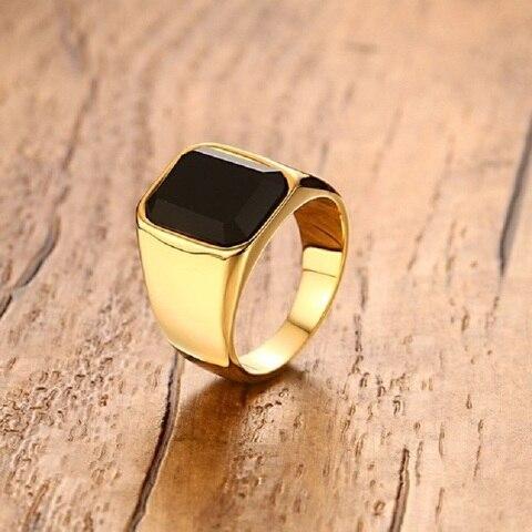 Высококачественное мужское кольцо модные кольца золотого цвета
