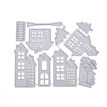 Metal Cutting Dies Christmas House Stencil DIY Scrapbooking Embossing Paper Card Decor #6