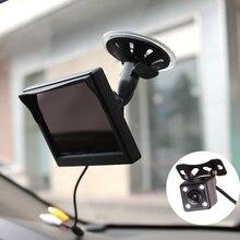 Автомобиль Грузовик Автобус 5 дюймов 12 В 24 В HD светодио дный монитор Стенд Экран с заднего вида резервного копирования Камера Парковка комплект комбинированные дома CCTV