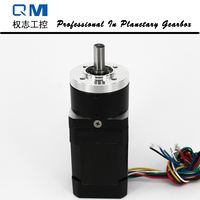 High Reliability Gear Brushless Dc Motor Planetary Gearbox Ratio 4 1 With NEMA 17 60W 24V
