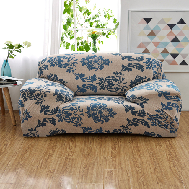 Flower Printed Sofa Covers Slipcovers Cloak On The Modern Cover