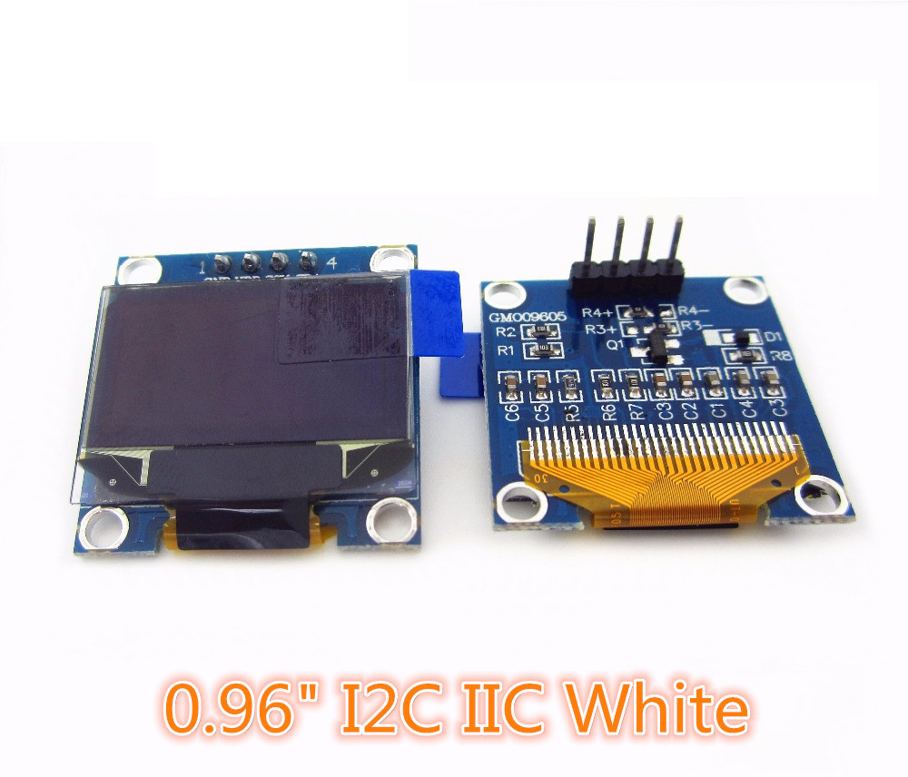 HAILANGNIAO 5pcs 0.96 I2C IIC SPI 128X64 white/bl OLED LCD LED Display Module 0.96 I2C IIC SPI Serial 128*64 in stock