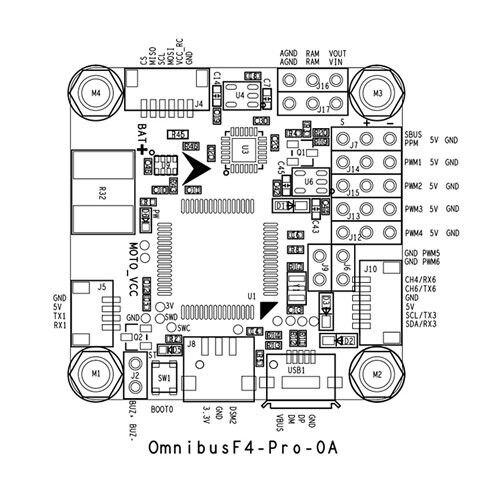 Betaflight OMNIBUS F4 Pro (V2) Flight Control Built-in OSD / BEC for FPV Racing Drone DIY Quadcopter