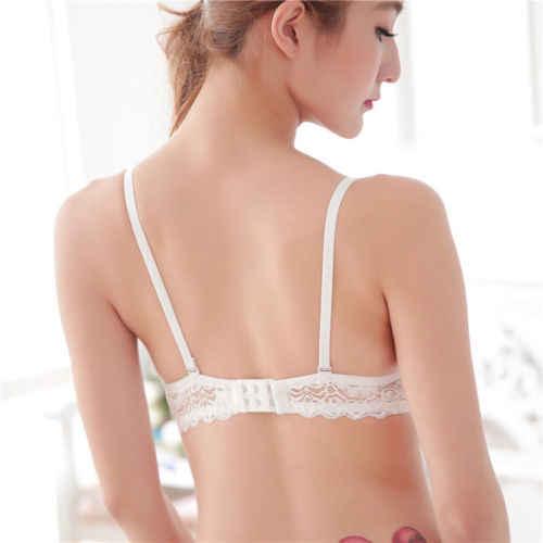 Women Ladies Floral Lace Push Up Bra Underwire Bras Underwear Soft Padded Brassiere Bras Black Blue Red White